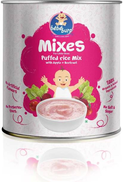 bebe burp Puffed Rice Mix with Apple & Beetroot Cereal Cereal