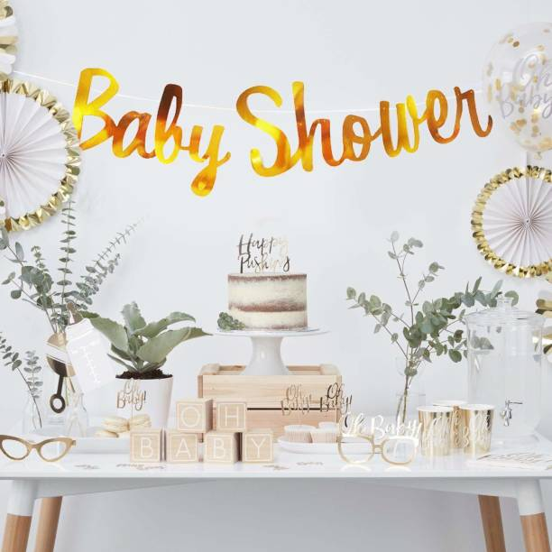 DECOR MY PARTY Baby Shower Banner Baby Shower Banner Decoration Baby Shower Decoration Items Set Maternity Shoot Props Accessories Banner