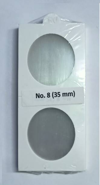 rci Coin Holders 2 x 2 50 Pieces Size No. 8 Holders (White, 35mm) Coin Bank