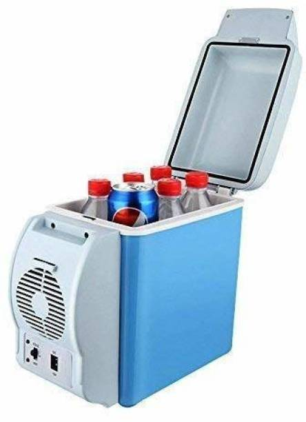 "S ENTERPRISE MINI CAR FRIDGE 7799 7.5 L Portable Car Refrigerator Electric Cooler and Warmer Car Refrigerator Portable Mini Fridge "" 7.5 L Car Refrigerator (Blue) 7.5 L Car Refrigerator"