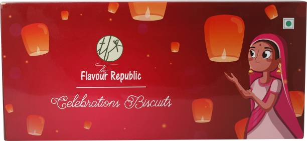 The Flavour Republic Diwali Gift Hamper Box_Red Cookies