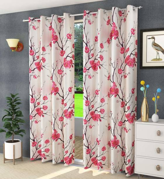 Shoolin Homes 152.4 cm (5 ft) Polyester Window Curtain (Pack Of 2)
