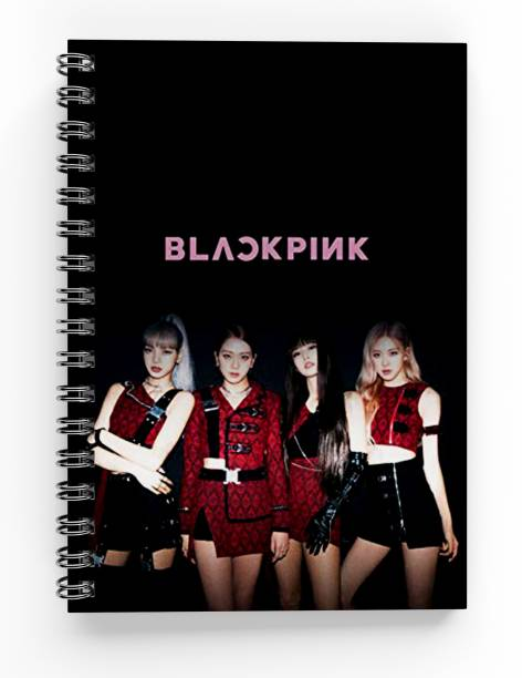 MG Brand Blackpink Kpop Spiral Bounded Rulled Notebook Diary A5 Size A5 Notebook Ruled 200 Pages