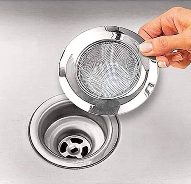 MICASHU Kitchen Sink Stainless Steel Push Down Strainer