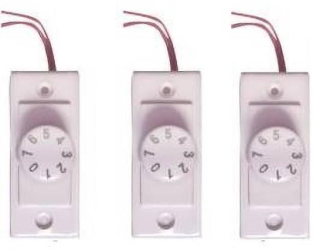 Tuffan Polycarbonate Switch 7 Step Type Fan Regulators (3 Pieces ) Step-Type Button Regulator