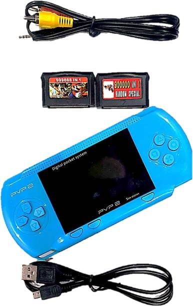 Clubics PVP2 Video Game - (Lite Blue) Gaming Console with Super Mario, Contra 1 GB with Super Mario 1 GB with Super Mario