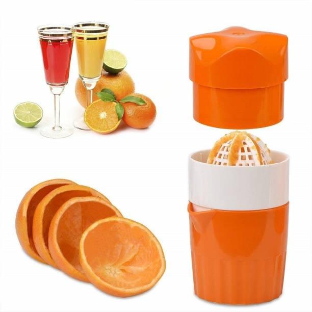 varnirajimportexport Plastic Hand Juicer Orange Juicer Lemon Squeezer, Manual Hand Juicer with Strainer and Container