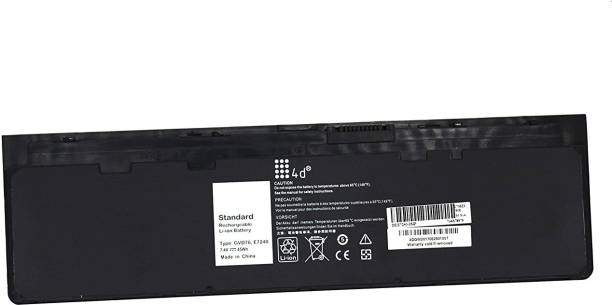 TravisLappy Laptop Battery For Latitude E7240 P/N: KWFFN, HJ8KP, J31N7, 451-BBFX 6 Cell Laptop Battery