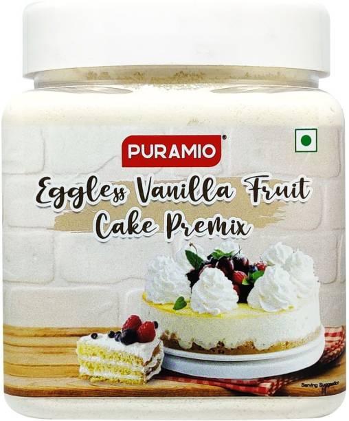 PURAMIO Eggless Vanilla Fruit Cake Premix 350 g