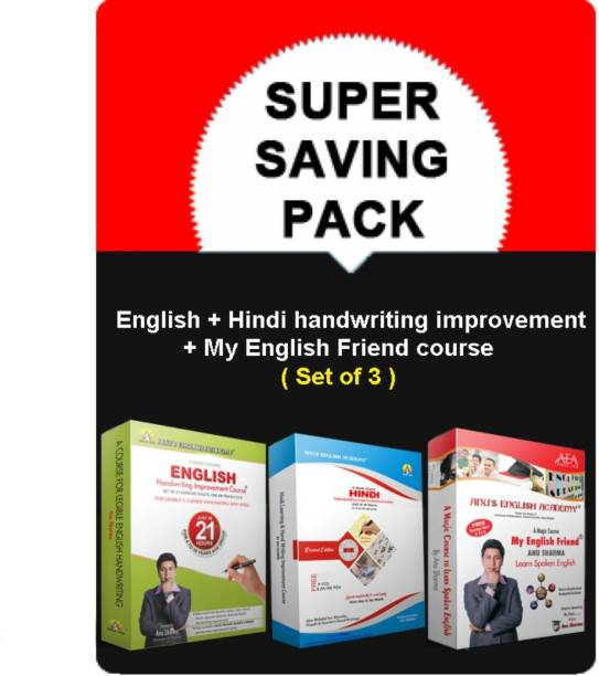English+Hindi Handwriting Improvement+My English Friend Speaking Course/Books Cursive Calligraphy Grammar Book