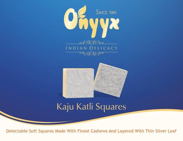 onyyx Kaju Katli Squares- (Kaju Barfi / Burfi, Indian Mithai / Sweets gift pack / box) Festive Gift Box