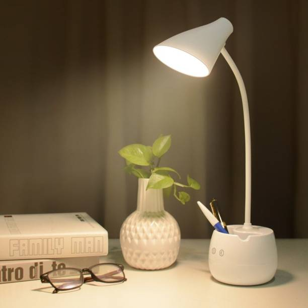 IDOLESHOP Desk Lamp For Study with 3 Shades Touch Control Light and Mobile Holder Design With Night light Table Lamp