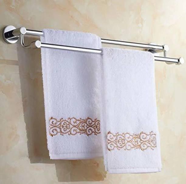 Flaner Heavy 24 INCH Stainless Steel Bathroom Towel Rod Holder/Towel Stand/Towel Hanger 24 inch 2 Bar Towel Rod