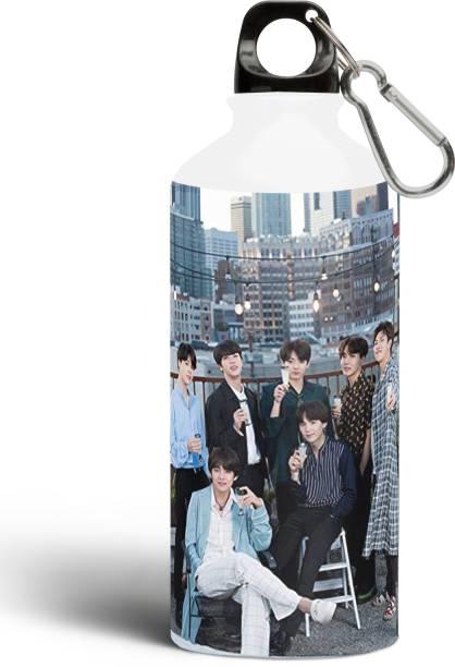 MG Brand BTS Bangtan Boys Theme Fan Art Sipper Water Bottle 600 ml