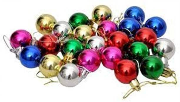 crystal bloom Multicolor Ball Ornaments Tree Decorations for Holiday Party Decoration, Christmas tree decorations Hanging Ornaments Pack of 24