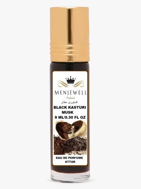 Menjewell Fragrances Black Kasturi ( Natural Itar/Attar) Musk Attar 9ML Floral Attar