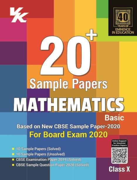 Xam Idea 20 Plus CBSE Sample Papers Mathematics (Basic) Class 10 for 2020 Exam