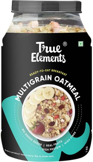 True Elements Multigrain Oatmeal, No Added Sugar Breakfast, High Protein