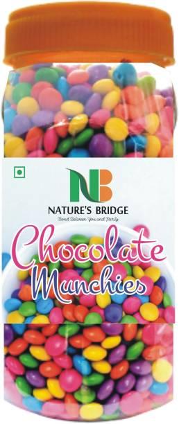 Nature's Bridge Gems Munchies - Chocolate Munchies - Gem s Chocolate - Chocolate Buttons - Jar pack - 300 Gm Truffles