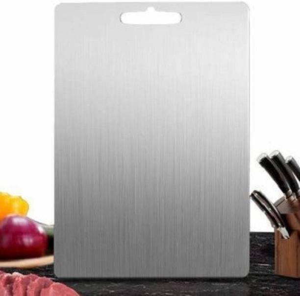 Alpyog Multipurpose Food-Grade kitchen heavy duty serving chopping serving cut dough board for fruits vegetables and meat Stainless Steel Cutting Board