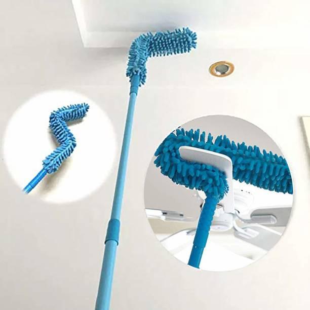 Shree enterpriseee Foldable Multipurpose Microfiber Ceiling Fan Duster, Telescopic Pole Handle Flexible Brush(Multicolor) Wet and Dry Duster