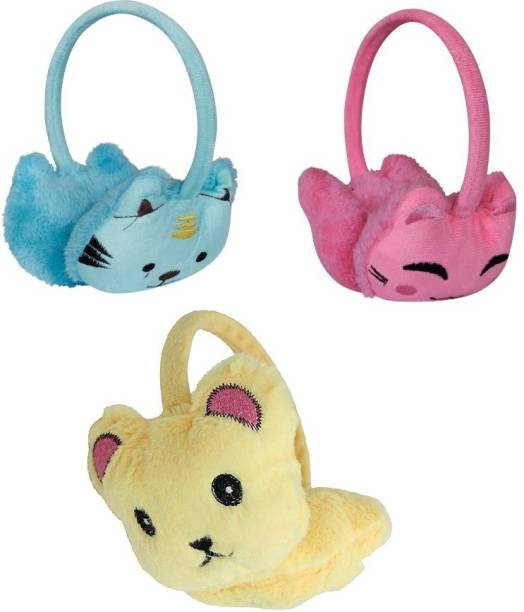 aadicare Women's Kitty Winter Warm Earmuffs pacf of 3 colors Ear Muff