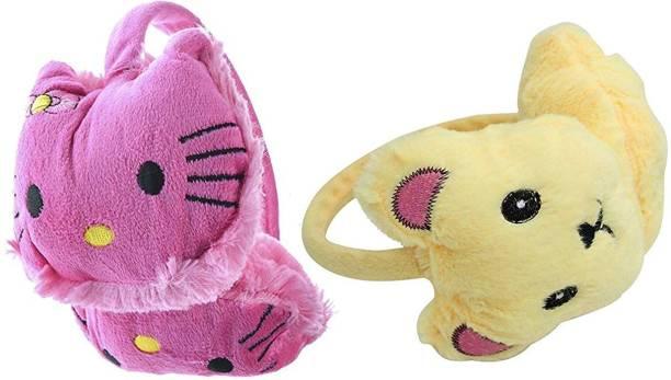 aadicare Girl's Kitty Style Winter Outdoor Wear Adjustable Size Ear Muffs/Warmer for Kids, Ideal Head Accessory during winters. Ear Muff
