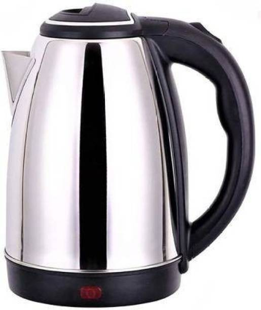 Home&ME HM-KW-19-18 Electric Kettle (2 L, Black With Silver) Electric Kettle