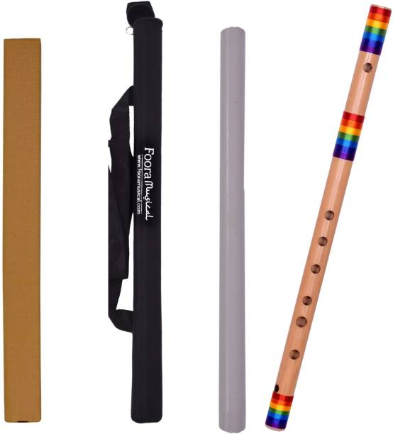 Foora Foora Rainbow Flute G Natural Base (Special Edition) Right Hand FREE PROTECTOR BEG Bamboo Flute