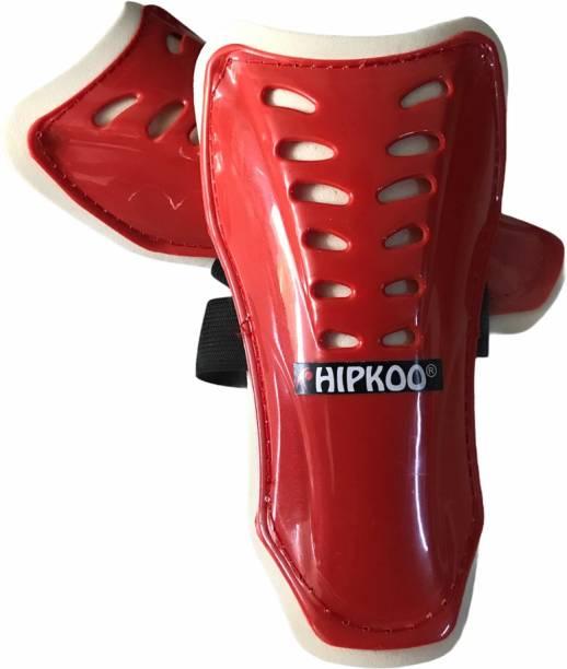 Hipkoo Sports Leg Protection Shin Guards (Large 19 cm) Red Football Shin Guard