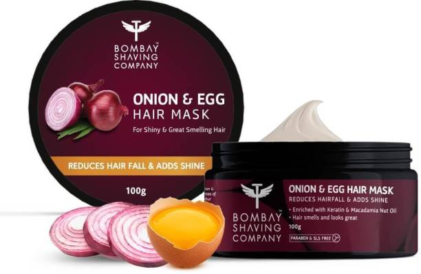 Bombay Shaving Company Onion & Egg Hair Mask For Men & Women | Repair damage, reduce hairfall & dandruff control | Made in India