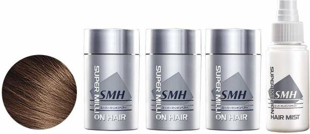 Super Million Hair 3 x 15g Hair Building Fibres & 1 x 60ml Hard Mist