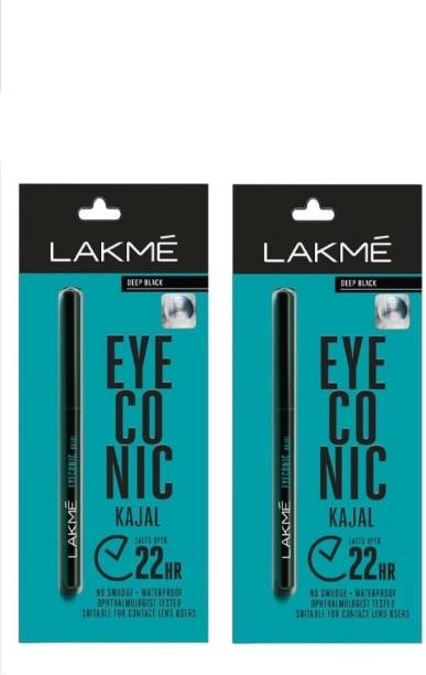 BTN TRADERS Eyeconic Kajal Pencil set of 2 (Deep Black, 0.35 g)