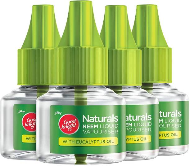 Good Knight Naturals Pack of 4 Refill Mosquito Vaporiser Refill