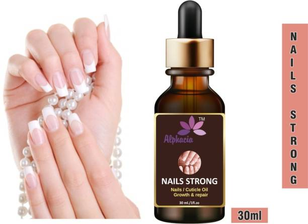 Alphacia 100% Natural Nails Strong Oil For Cuticle Care, Nail Growth & Strength YELLOW Pack of 1 (30ml0 Purple