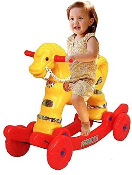 NETRO Toys 2 in 1 Baby Horse Rider | Rocker for Kids 1-2.5 Years Baby Birthday Gift for Kids/Boys/Girls (Multicolour)