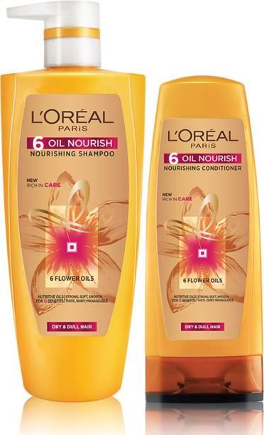 L'Oréal Paris 6 Oil Nourish Shampoo 704ml with Conditioner 192.5ml