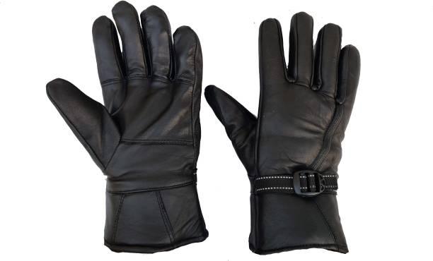 Zonkar Leather Winter Cycling Bike Motorcycles Man Riding Gloves Riding Gloves ( Black ) Riding Gloves