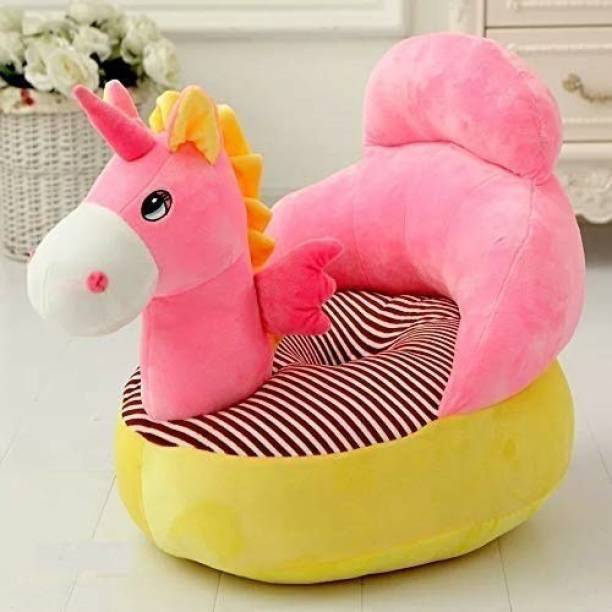Kiddietown Unicorn Shape Soft Plush Cushion Baby Sofa Seat or Rocking Chair for Kids  - 45 cm