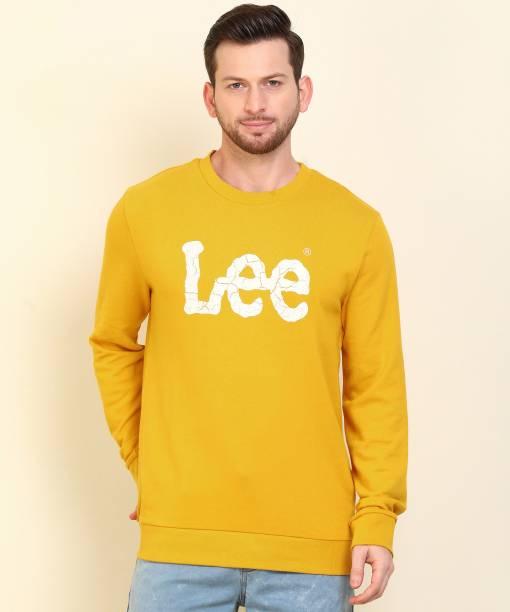 LEE Full Sleeve Printed Men Sweatshirt