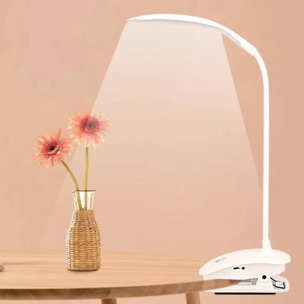 Azacus USB Led Table Lamp with Clip Flexible Desk Lamp Eye Protection Study Lamp