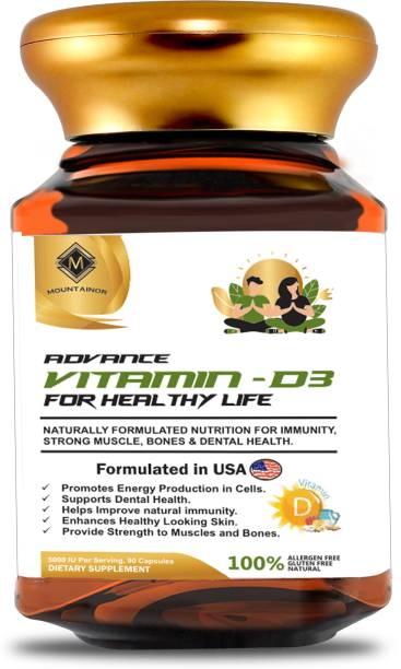 Mountainor VitaminD3 For HealthyLife Help In StrongerImmunity Bone Muscle Teeth For Men,Women