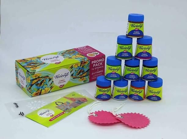 Fevicryl Fabric Soft Colours, 2( 20ml X10 colours kit)