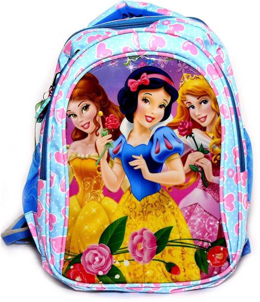 Magic of Gifts Feather Light Soft Fluffy School Bag Disney Princess Character 17 inch Waterproof School Bag for Girls Upto 9th Class Waterproof School Bag