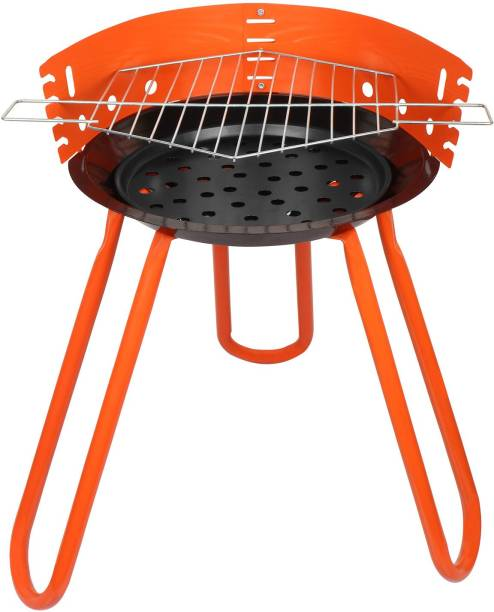 Tesler Portable Barbeque Grill with Stand, (BBQ)-Orange Charcoal Grill