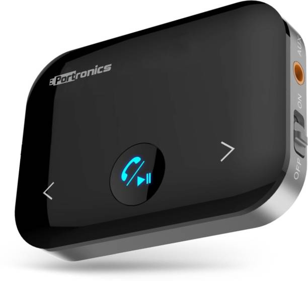 Portronics v4.2 Car Bluetooth Device with Transmitter, Audio Receiver, 3.5mm Connector