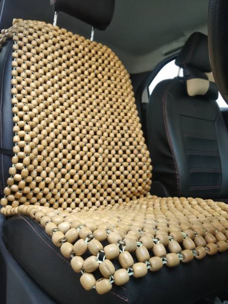 Q1 Beads Wooden, Wooden Car Seat Cover For Volkswagen, Mahindra, Hyundai, Tata, Toyota, Maruti, Honda, Jeep, Universal For Car New Fortuner, i10 Active, Santro, Logan Edge, Tigor, Nexon, Compass, Grand i10, Hexa, Innova, TUV-300, CR-V, City, Universal For Car