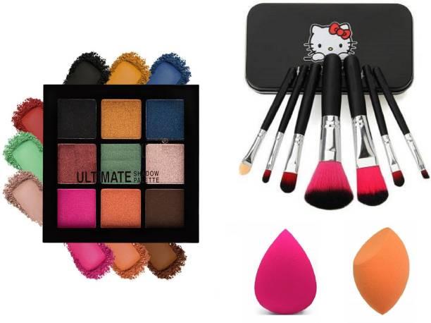 Insta Beauty Ultimate Eye Shadow + Brush Set + MeNow 2 Blendor Puffs