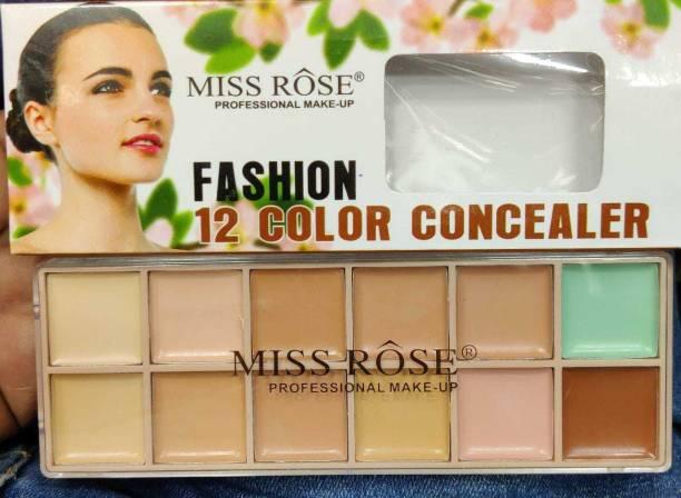 MISS ROSE PROFESSIONAL MAKEUP FASHION 12 COLOR CONCEALER PALETTE 48G , 034 Concealer