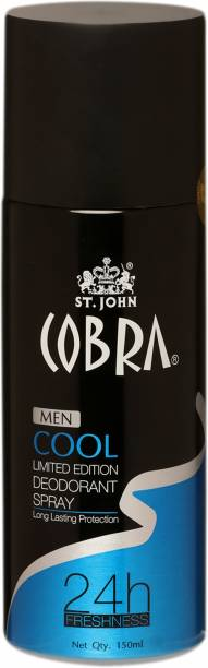 ST-JOHN Cobra Gas Deo Black Cool (150ml) Deodorant Spray  -  For Men